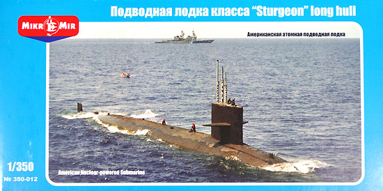 アメリカ スタージョン級 原子力潜水艦 長船体型プラモデル(ミクロミル1/350 艦船モデルNo.9312)商品画像