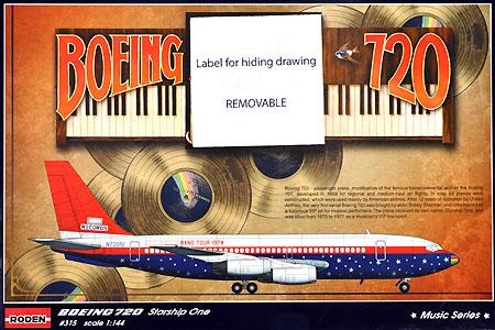 ボーイング 720 スターシップワン (エルトン・ジョン)プラモデル(ローデン1/144 エアクラフトNo.315)商品画像