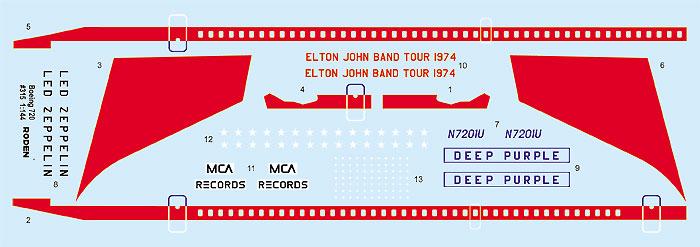 ボーイング 720 スターシップワン (エルトン・ジョン)プラモデル(ローデン1/144 エアクラフトNo.315)商品画像_1
