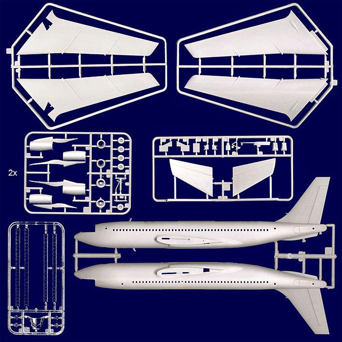 ボーイング 720 スターシップワン (エルトン・ジョン)プラモデル(ローデン1/144 エアクラフトNo.315)商品画像_2