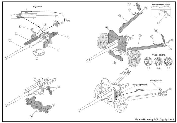 フランス 47mm SA mle.1937 対戦車砲プラモデル(エース1/72 ミリタリーNo.72529)商品画像_3