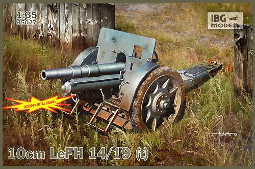 ドイツ 100mm野砲 LeFH 14/19 (t)プラモデル(IBG1/35 AFVモデルNo.35027)商品画像