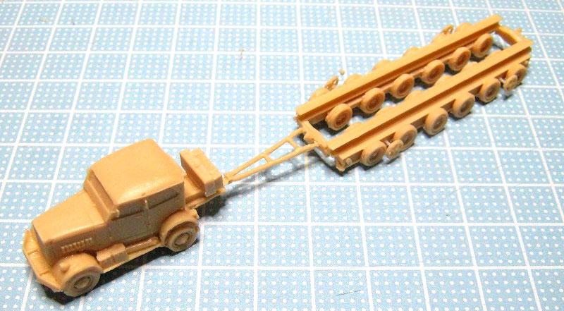ドイツ 100t トラック セミトレーラ & ハノマーグトラクタ セットレジン(マツオカステン1/144 オリジナルレジンキャストキット (AFV)No.MTUAFV-093)商品画像_2