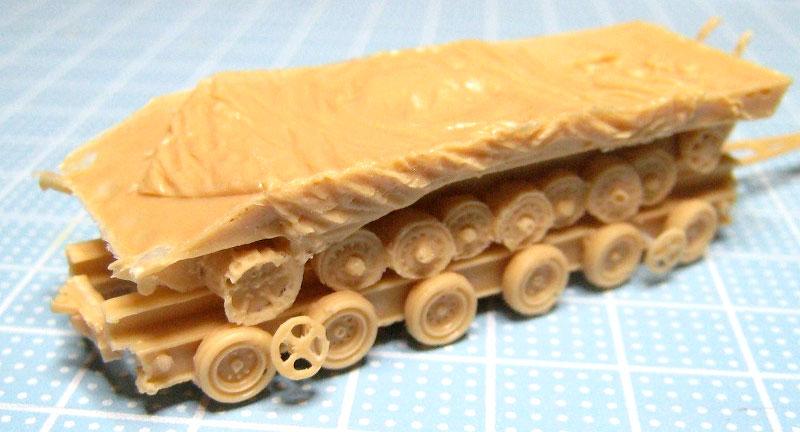 ドイツ 100t トラック セミトレーラ & ハノマーグトラクタ セットレジン(マツオカステン1/144 オリジナルレジンキャストキット (AFV)No.MTUAFV-093)商品画像_3