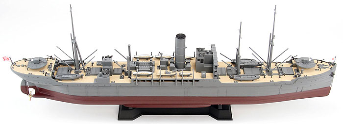 日本海軍 給糧艦 間宮 1944 (最終時)プラモデル(ピットロード1/700 スカイウェーブ W シリーズNo.W166)商品画像_3