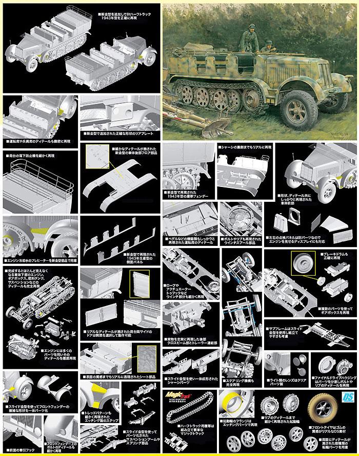 ドイツ Sd.Kfz.7 8トンハーフトラック 1943年生産型プラモデル(サイバーホビー1/35 AFV シリーズ ('39~'45 シリーズ)No.6794)商品画像_3