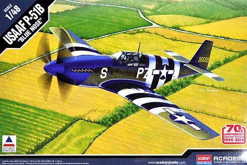 USAAF P-51B マスタング BLUE NOSEプラモデル(アカデミー1/48 Scale AircraftsNo.12303)商品画像