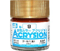 GSIクレオス水性カラー アクリジョンゴールド (金) (N-9)