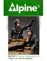 アルパイン1/35 フィギュア武装親衛隊 装甲部隊指揮官 (革ジャケット着用) (2体セット)