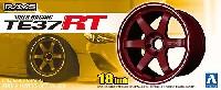 アオシマ1/24 Sパーツ タイヤ&ホイールボルクレーシング TE37 RT
