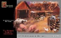 ペガサスホビープラスチックモデルキット動物セット (30個入り)