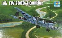 トランペッター1/72 エアクラフト プラモデルフォッケウルフ Fw200C-4 コンドル