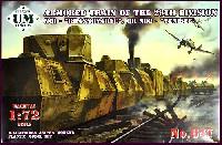ユニモデル1/72 AFVキットロシア 装甲列車 クラスノヤルク号/エニセイ号 76mm砲塔搭載