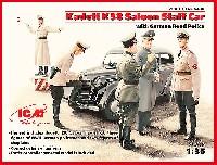 ICM1/35 ミリタリービークル・フィギュアオペル カデット K38 サルーン スタッフカー w/交通警察隊
