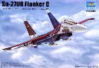 トランペッター1/144 エアクラフトシリーズSu-27UB フランカー C