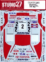 スタジオ27ラリーカー オリジナルデカールトヨタ セリカ ST165 モンテカルロ/ツール・ド・コルス/RAC 1990