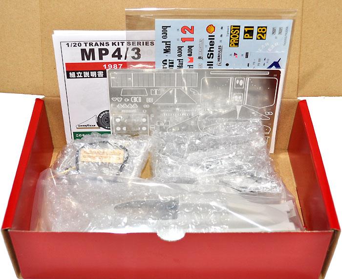 マクラーレン MP4/3 1987 トランスキットトランスキット(スタジオ27F-1 トランスキットNo.TK2055)商品画像_1
