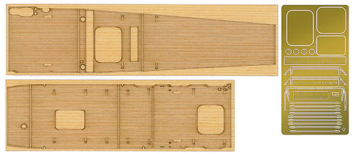 航空母艦 赤城用 木製甲板木甲板(ハセガワ1/700 QG帯No.QG052)商品画像_1