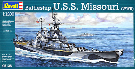 戦艦 ミズーリプラモデル(レベル1/1200 艦船キットNo.05128)商品画像