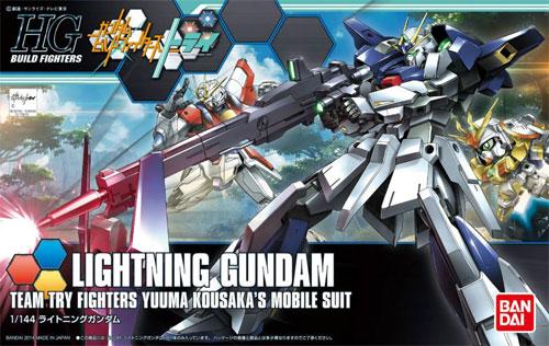 ライトニングガンダムプラモデル(バンダイHGBF ガンダムビルドファイターズNo.020)商品画像