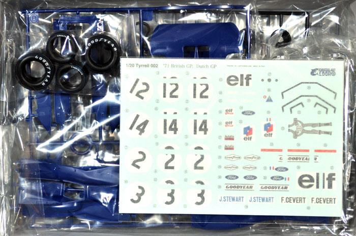 ティレル 002 1971 イギリスGPプラモデル(エブロ1/20 MASTER SERIES F-1No.008)商品画像_1