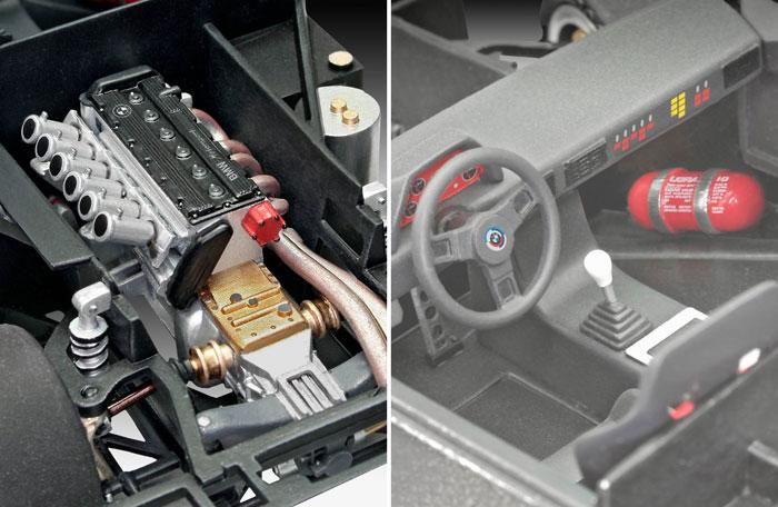 BMW M1 プロカープラモデル(レベルカーモデルNo.07247)商品画像_3