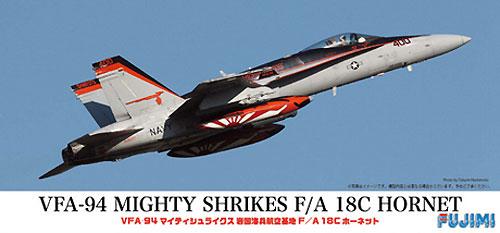 F/A-18C ホーネット VFA-94 マイティシュライクス 岩国海兵航空基地プラモデル(フジミAIR CRAFT (シリーズF)No.722566)商品画像
