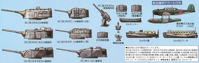 WW2 日本海軍艦船装備セット 2プラモデル(ピットロードスカイウェーブ E シリーズNo.E005)商品画像_2