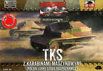 ポーランド TKS 小型戦車 機銃搭載型プラモデル(FTF1/72 AFVNo.72015)商品画像