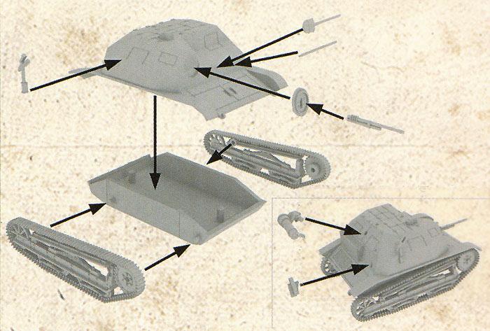 ポーランド TKS 小型戦車 機銃搭載型プラモデル(FTF1/72 AFVNo.72015)商品画像_1