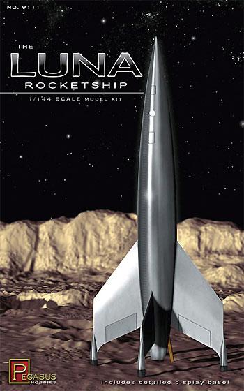 ルナロケットプラモデル(ペガサスホビープラスチックモデルキットNo.9111)商品画像