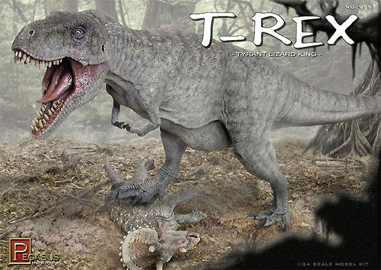 ティラノサウルス T-REXプラモデル(ペガサスホビープラスチックモデルキットNo.9551)商品画像