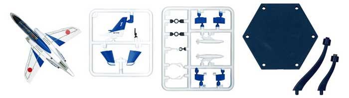 T-4 ブルーインパルス (6機セット)プラモデル(童友社1/144 現用機コレクション スマートセットNo.002)商品画像_2