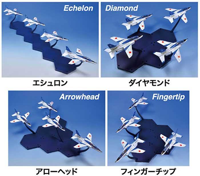 T-4 ブルーインパルス (6機セット)プラモデル(童友社1/144 現用機コレクション スマートセットNo.002)商品画像_3