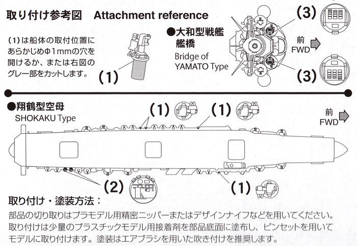 機銃射撃装置セットプラモデル(ファインモールド1/700 ナノ・ドレッド シリーズNo.WA029)商品画像_1