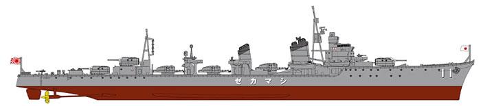 日本海軍 駆逐艦 島風 最終時プラモデル(ピットロード1/700 スカイウェーブ W シリーズNo.W161)商品画像_1