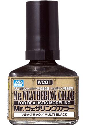 マルチブラック塗料(GSIクレオスMr.ウェザリングカラーNo.WC001)商品画像