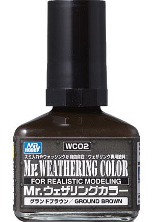 グランドブラウン塗料(GSIクレオスMr.ウェザリングカラーNo.WC002)商品画像