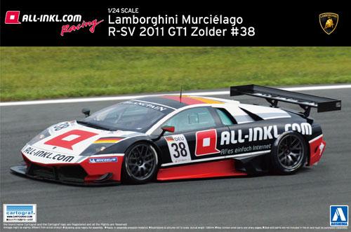 ランボルギーニ ムルシエラゴ R-SV 2011 GT1 Zolder #38プラモデル(アオシマ1/24 スーパーカー シリーズNo.016)商品画像