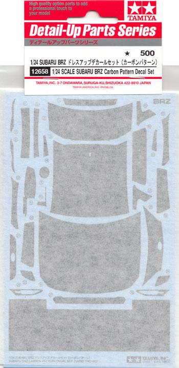 スバル BRZ ドレスアップデカールセット (カーボンパターン)デカール(タミヤディテールアップパーツシリーズ (自動車モデル)No.12658)商品画像