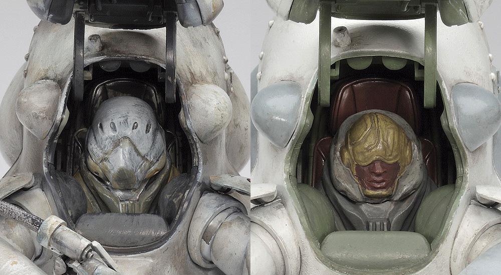 ロボットバトルV 月面用重装甲戦闘服 MK44 H型 ホワイトナイトプラモデル(ハセガワマシーネンクリーガー シリーズNo.64108)商品画像_4