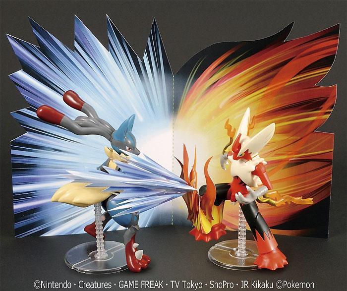 メガルカリオ vs メガバシャーモセットプラモデル(バンダイポケモンプラモコレクション (ポケプラ)No.035+037)商品画像_3