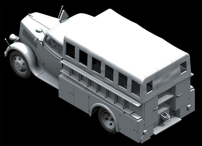 ドイツ オペル 消防車 (2.5-32 KzS8型)プラモデル(ICM1/35 ミリタリービークル・フィギュアNo.35403)商品画像_2