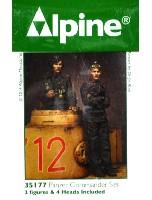 アルパイン1/35 フィギュアWW2 ドイツ 国防軍 戦車指揮官 (2体セット)