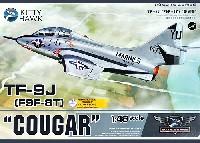 キティホーク1/48 ミリタリーエアクラフト プラモデルTF-9J (F9F-8T) クーガー