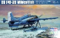 ホビーボス1/48 エアクラフト プラモデルF4F-3S ワイルドキャット 水上機型