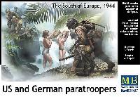 マスターボックス1/35 ミリタリーミニチュアアメリカ・ドイツ 降下兵 南ヨーロッパ 1944