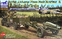 ブロンコモデル1/35 AFVモデルイギリス 1/4t 空挺用小型兵員車 & 75mmパックハウザー + 降下兵4体
