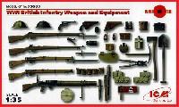 ICM1/35 ミリタリービークル・フィギュアWW1 イギリス歩兵 ウェポン & 装備