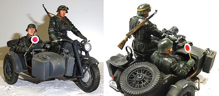 WW2 ドイツ軍 サイドカークルーレジン(アスカモデル1/24 アスカモデル 限定キットNo.OL-004)商品画像_2